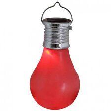 Red Solar Hanging Light Bulb