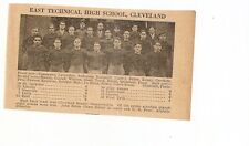 East Technical Cleveland & West Ohio 1929 Football High School Team Picture