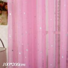 White Star Tulle Curtains Modern for Living Room Transparent Tulle Curtains HOT