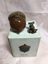 Boyds Bear Treasure Box Chippy's Acorn With Leaf McNibble