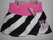 Disney Minnie Mouse Skirt Striped Cotton Girls Size S 6-6X NWT