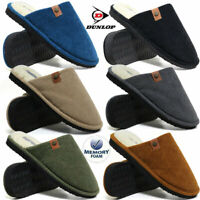 New Mens Jeans leather  Black /& Grey Mule Shoes Cozy Warm Boots Home Flip-Flop
