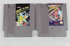 SKATE OR DIE 1 & 2 game set Nintendo Entertainment System NES CLEANED TESTED
