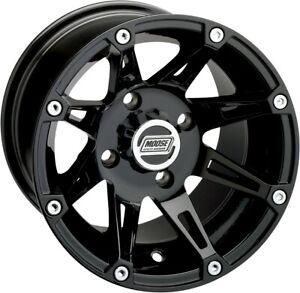 Moose 387X ATV/UTV Front Wheel - 12x7 4/156 4+3 Offset - Black
