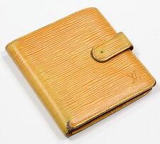 LOUIS VUITTON Yellow Passion Epi Leather Auth MI0957 LV Logo Bifold Wallet