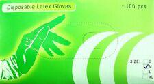 Tattoo Gloves Box of 100 Black Latex Medium Size