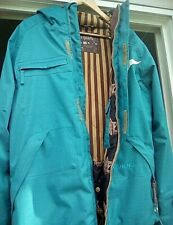 Ride Snowboard Winter Snow Jacket in Turquoise blue Color Mens Small Size
