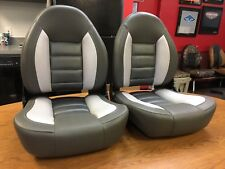 Boat Seats TEMPRESS ProBax Charcoal Silver Black - PAIR (2) TWO - Made in USA