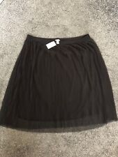 H&M plus 3x Black tulle skirt with elastic waist new with Tags,