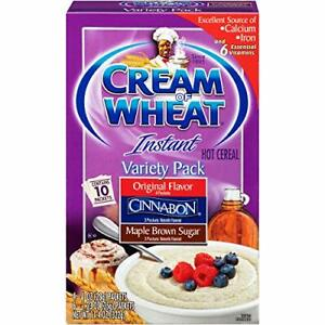 Cream of Wheat, Hot Cereal, Variety Pack, 11.4 Ounce 10 Piece Assortment