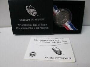 2014 National Baseball Hall of Fame Uncirculated Half Dollar Commemorative Coin