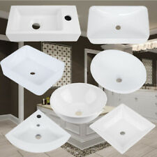 New listing Bathroom Ceramic Vessel Sink Washroom Vanity Hotel Hand Wash Counter Top Basin