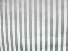 SILVER WHITE STRIPED Vintage Wallpaper C&A Wallcoverings FT3154 DOUBLE ROLLS