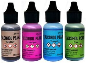 Tim Holtz Ranger Alcohol Pearls Ink in Various Colours for Paper / Resin Crafts