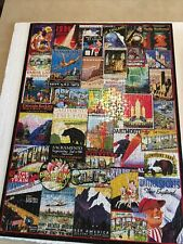 Eurographics 1000 piece jigsaw puzzle - Travel Usa Vintage Posters - used once
