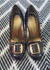 GUESS Black Gold Patent  Stilettos Pumps Formal Wedding Evening High Heels 8.5