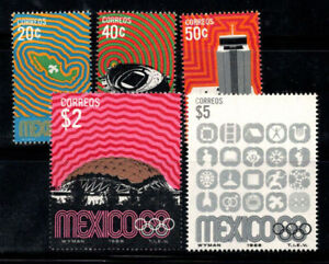Mexico 1968 Mi. 1283-1287 MNH 100% Olympic Games