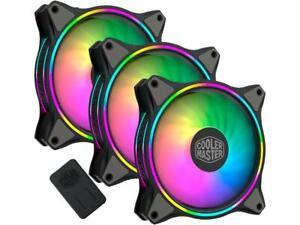 Cooler Master MasterFan MF120 Halo Duo-Ring Addressable RGB Lighting 120mm 3 PK