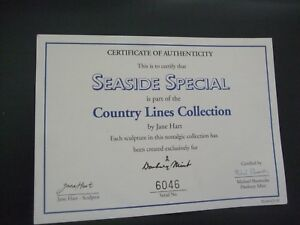 DANBURY  MINT - Seaside Special - Cert of Authenticity no 6046 ONLY