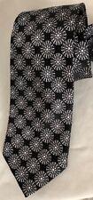 """Steve Harvey CODE RED Necktie 4X60"""" Silk Black Snowflake Tie"""
