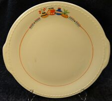 """Taylor Smith Taylor Mexican Fantasy Handled Chop Plate Tabbed Platter 13"""" RARE"""