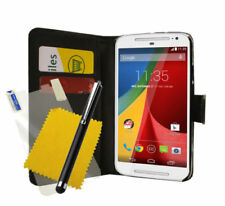Synthetic Leather Mobile Phone Flip Cases for Motorola Moto G