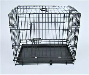 James & Steel 2 Door My Pet Folding Pet Cage Dog Puppy Training Pen Crate  SMALL