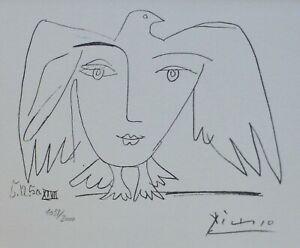PABLO PICASSO Visage de la Paix 50 XXVII HAND NUMBERED **/2000 signed LITHOGRAPH