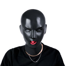 High Quality Latex Mask Full covered open nose tube Hood Red mouth Gag