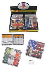 Portasigarette cigarette case metallo per 20 sigarette classiche KS mod AA527