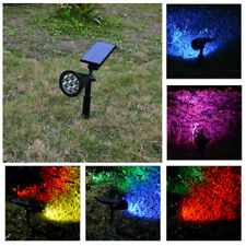 7 LED Solar Powered Garden Sensor Light Outdoor Flood Yard Lawn Wall Spot Lamp
