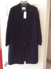Maria Grazia Severi Knit Coat, Size 50, Black, Bnwot