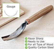 """1.4"""" Long bent gouge chisel NEW Wood carving tools for spoon bowl Wood working"""
