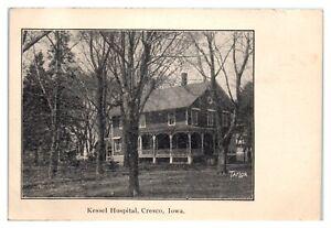 Kessel Hospital, Cresco, IA Postcard *5S2