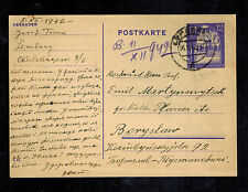 1942 Lemberg Poland Germany GG Postcard cover to Boryslaw
