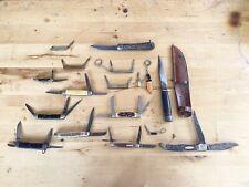 Lot of 16 Vintage Pocket Knives Keen Schrade OldTimer Robeson USA Presto Germany