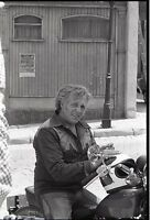 EVEL KNIEVEL ON MOTORCYCLE THE BIONIC WOMAN ORIGINAL 1977 ABC TV PHOTO NEGATIVE