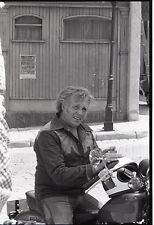 EVEL KNIEVEL ON MOTORCYCLE THE BIONIC WOMAN ORIGINAL 1977 ABC TV PHOTO NEGATIVE