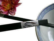 1 Paar Schwarze Essstäbchen Silberverzierung chopsticks Esstäbchen NEU