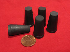 "5 pcs - #00 Tapered Rubber Stopper - 3/8"" to 9/16""  Solid, Vial, Test Tube, Cork"