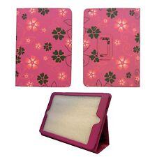 Funda para Apple iPad Mini 2 ROSA FUCSIA Funda con rosa y Gris Piel Artificial