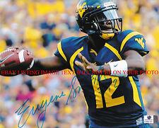 Eugene Geno Smith Autographed 8x10 Rp Photo Wvu West Virginia Qb