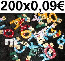 200x courrier lettres en bois BRICOLER MATÉRIEL DE CARNAVAL Alphabet FORAIN