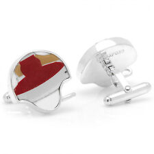 Stanford Cardinal Game Used Football Helmet Cufflinks by Token & Icons Nib New!