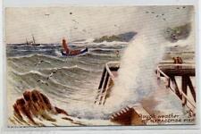 ILFRACOMBE Rough Weather Pier TUCK series 7275 PC UK Circa 1905