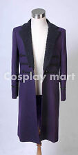 Who is Doctor Eleventh 11th Dr. Purple Wool Frock Coat Costume