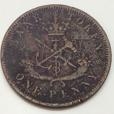 1857 Bank Upper Canada One 1 Penny Circulated Canadian Token D847