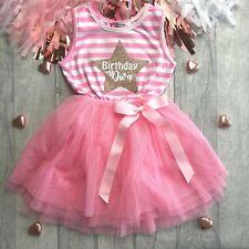 BIRTHDAY PARTY PRINCESS TUTU Birthday Diva Star Sleeveless Pink Party Dress Gift