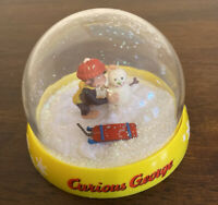 HOLIDAY 2006 SNOWGLOBE CURIOUS GEORGE BRASS KEYWinter CHRISTMAS SNOWMAN-no Water