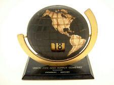Vintage Large Perpetual Flip Numeral Calendar Globe Deco Advertising Kentucky